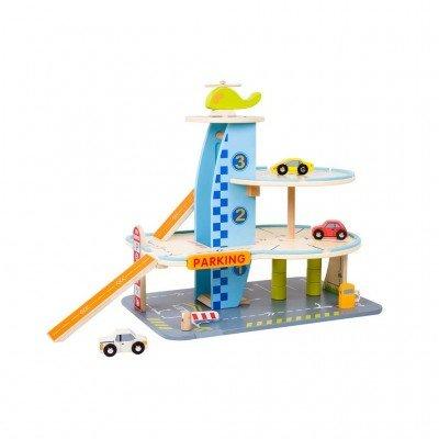 Детски дървен гараж - 3 нива